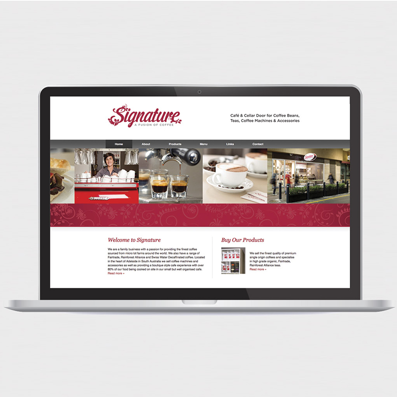 Signature Coffee – Web Design Adelaide