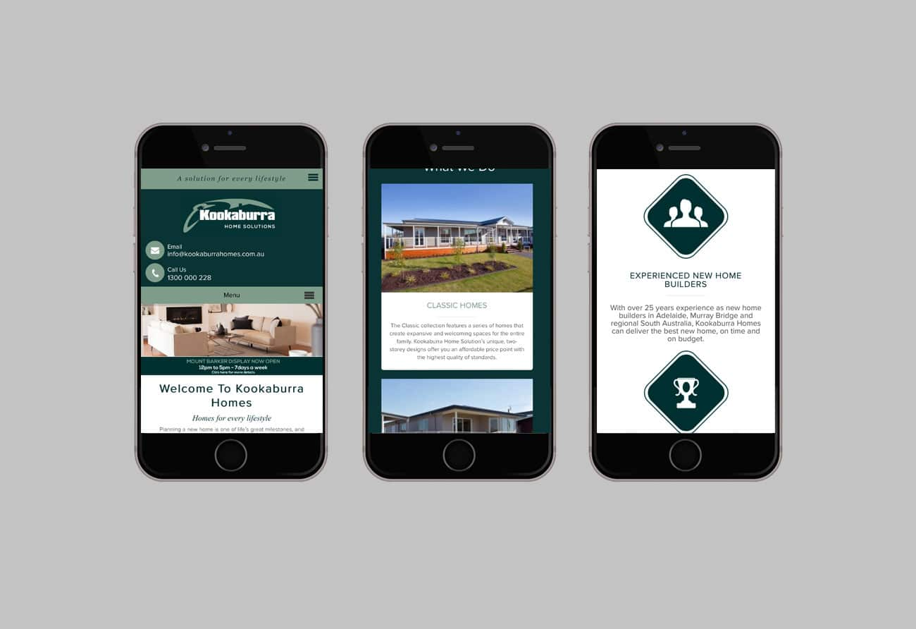 Kookaburra Homes – Website Maintenance