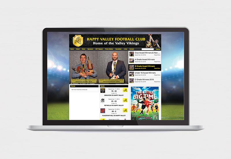 Vikings Football Club – Website Design