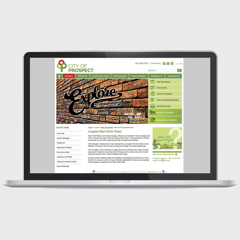 City of Prospect – Web Design Adelaide