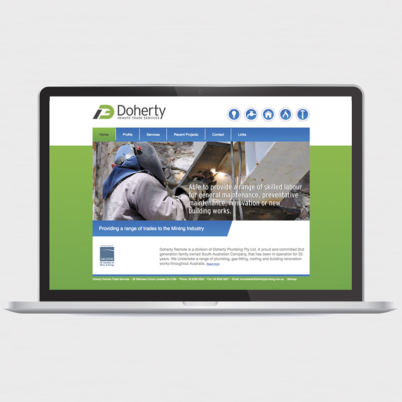 Doherty Remote Trade Services – Brand identity