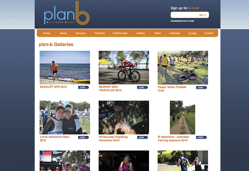 Plan B Fitness – Website