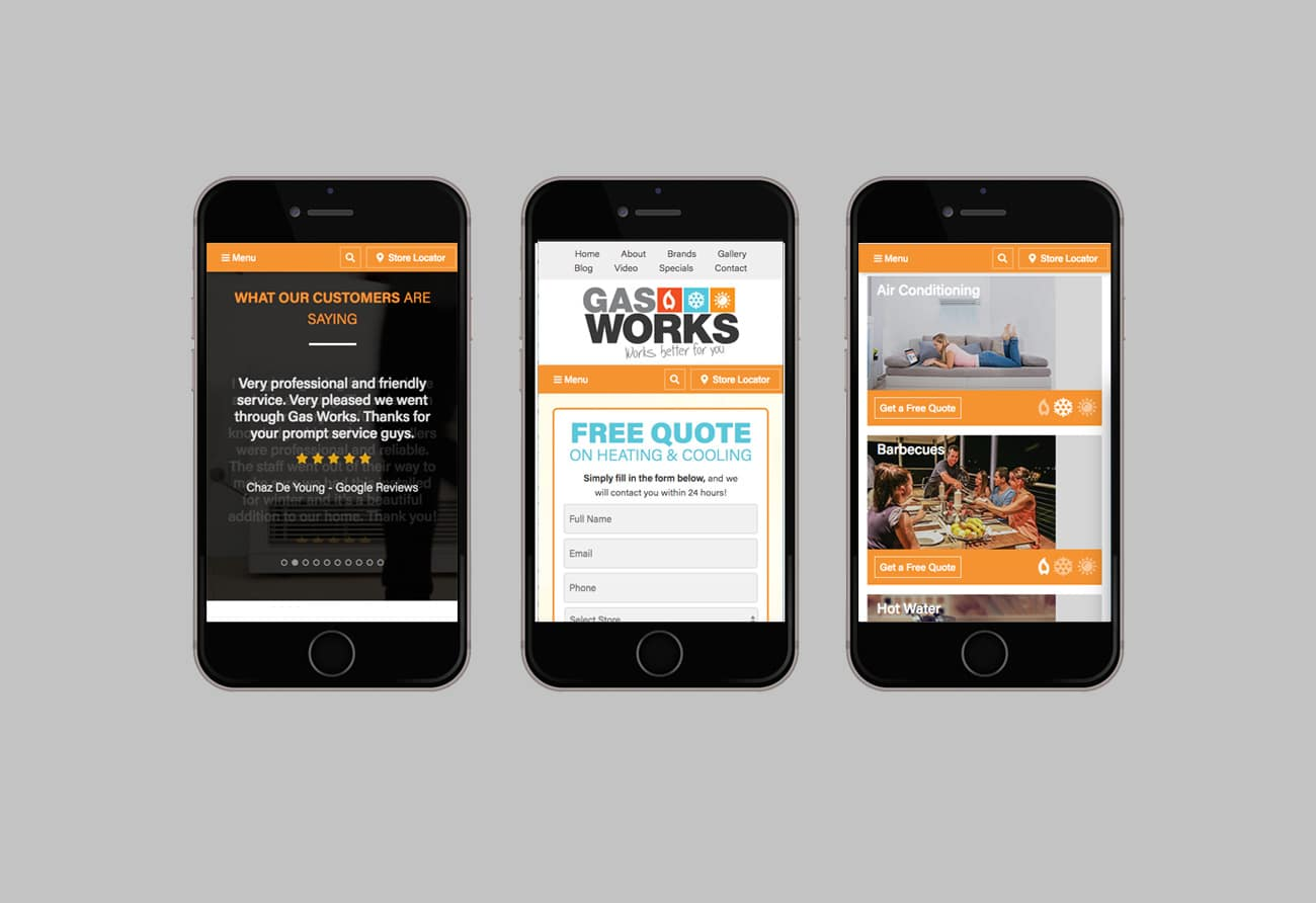 Gas Works – Website Design